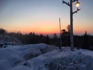 白銀荘からの夕焼け